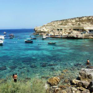 Dahlet Qorrot Bay In Gozo, Malta