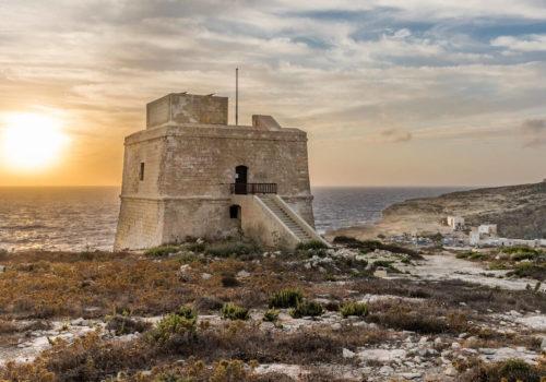 Dwejra Tower In Gozo, Malta