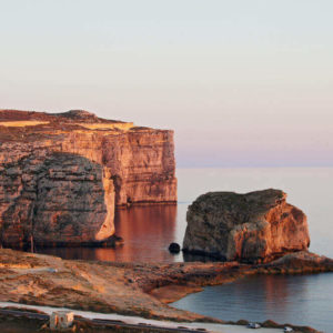Fungus Rock In Gozo, Malta