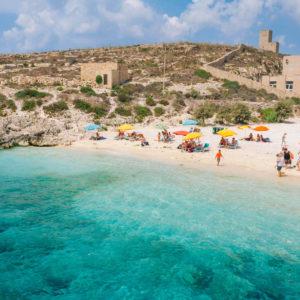 Hondoq Bay In Gozo, Malta