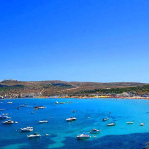 Mellieha Bay Beach In Malta