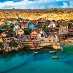 Popeye Village & Anchor Bay In Malta
