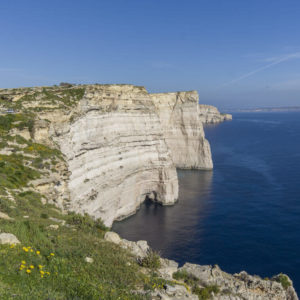 Sanap Cliffs In Gozo, Malta