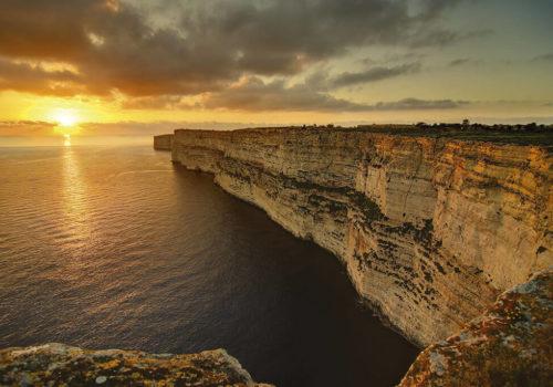 Ta' Cenc Cliffs In Gozo, Malta