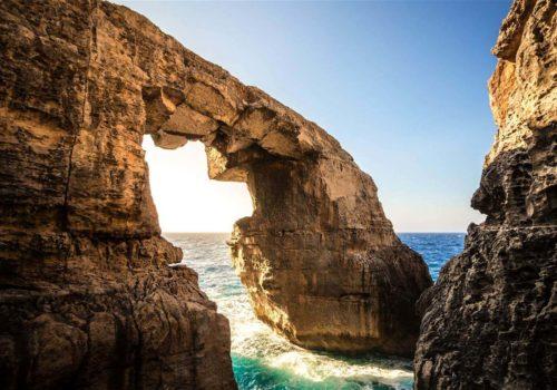 Wied Il-Mielah In Gozo, Malta